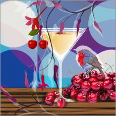Sticker mural  Vintage Birdy Cocktail IV - Mandy Reinmuth