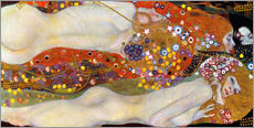 Sticker mural  Les serpents d'eau II - Gustav Klimt
