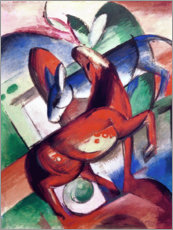 Tableau en verre acrylique  Horse and donkey - Franz Marc