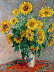 Tableau en plexi-alu  Bouquet de tournesols - Claude Monet