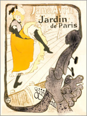 Sticker mural  Jane Avril - Henri de Toulouse-Lautrec