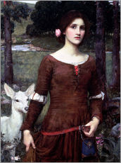 Sticker mural  Lady Clare - John William Waterhouse