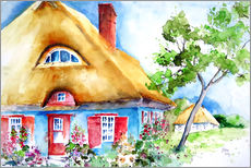 Sticker mural  House with thatched roof at the Baltic Sea - Brigitte Dürr