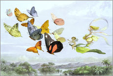 Sticker mural  The Fairy Queen's carriage - Richard Doyle