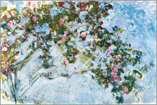 Sticker mural  Les roses - Claude Monet