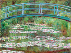 Sticker mural  Nympheas blancs - Claude Monet