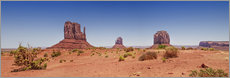Sticker mural  Vue panoramique de Monument Valley I - Melanie Viola