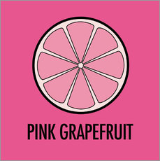 Sticker mural  Pink Grapefruit - JASMIN!