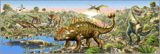 Sticker mural  Dinosaur panorama - Adrian Chesterman