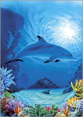Sticker mural  Camouflage dolphins - Robin Koni
