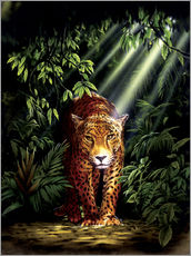 Tableau en plexi-alu  Jungle leopard - Robin Koni