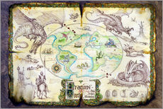 Tableau en plexi-alu  Dragons of the world - Dragon Chronicles