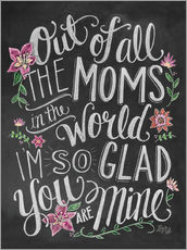 Sticker mural  The best mom of the world - Lily & Val