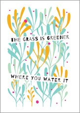 Sticker mural  The grass is greener - Susan Claire
