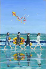 Tableau en plexi-alu  Plage d'Abbey Road - Peter Adderley