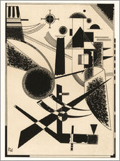 Sticker mural  Lithographie n° 3 - Wassily Kandinsky