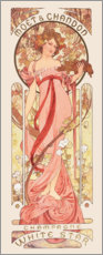 Sticker mural  Moët & Chandon, White Star rose - Alfons Mucha