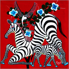 Tableau en plexi-alu  Zebras in the Wild - Rubuni