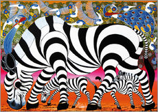 Sticker mural  Zebras on foraging - Mustapha