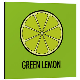 Tableau en aluminium  Green Lemon - JASMIN!