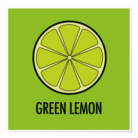 Poster Green Lemon Juice