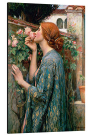 Tableau en aluminium  L'âme de la Rose - John William Waterhouse