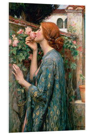 Tableau en PVC  L'âme de la Rose - John William Waterhouse