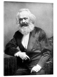 Tableau en verre acrylique  Portrait de Karl Marx - English Photographer