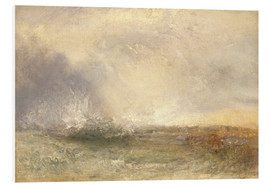 Tableau en PVC  Mer orageuse - Joseph Mallord William Turner