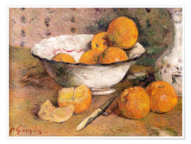 Poster  Nature morte aux oranges - Paul Gauguin