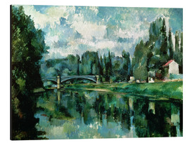 Tableau en aluminium  Les Bords de la Marne - Paul Cézanne
