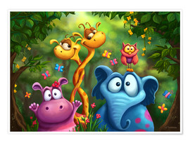 Poster Animaux de la jungle