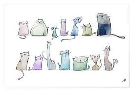 Poster Les chats