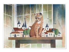 Poster  Le regard du chat - Franz Heigl