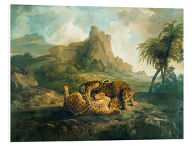 Tableau en PVC  Leopards at Play - George Stubbs