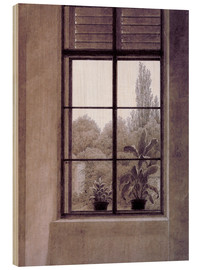 Tableau en bois  Window w.view o.park - Caspar David Friedrich