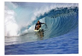 Tableau en PVC  Surfing blue paradise island wave - Paul Kennedy
