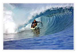 Poster  Surfing blue paradise island wave - Paul Kennedy