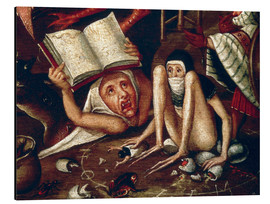 Tableau en aluminium  The Hell - Hieronymus Bosch