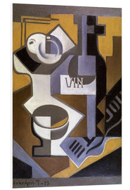 Tableau en PVC  Still Life with Wine Bottle - Juan Gris