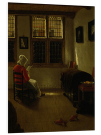 Tableau en PVC  Woman Reading. - Pieter Janssens Elinga