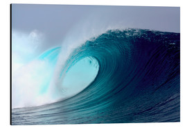 Tableau en aluminium  Vague tropicale bleue pour surfer - Paul Kennedy