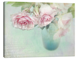 Tableau sur toile  Roses roses - Lizzy Pe