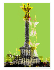 Poster Berlin Victory Column (on Green)