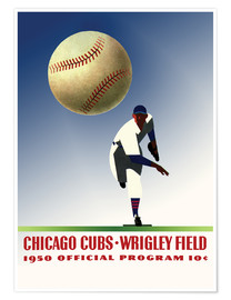 Poster chicago cubs 1950