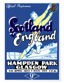 Poster Scotland vs England 1952