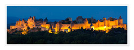 Poster  France - Castle Carcassone - Tobias Richter