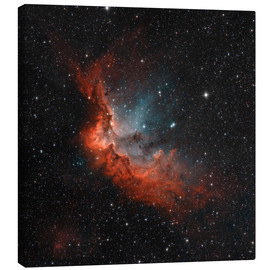 Tableau sur toile  NGC 7380 in true colors. - Rolf Geissinger