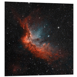 Tableau en PVC  NGC 7380 in true colors. - Rolf Geissinger