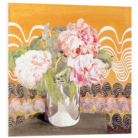 Tableau en PVC  Pivoines - Charles Rennie Mackintosh